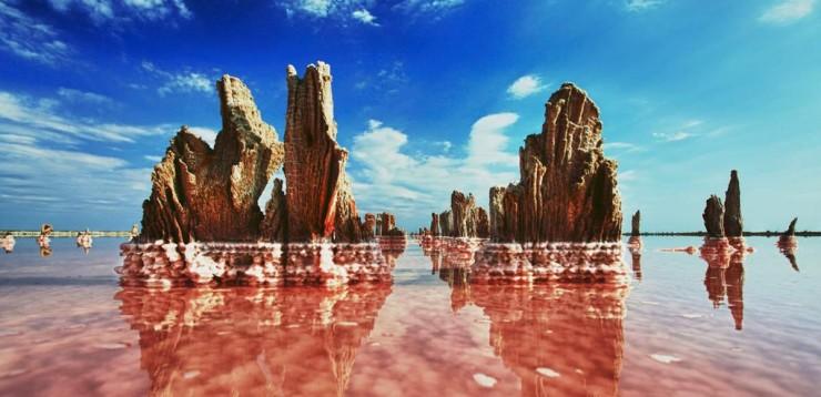 Соленое озеро в Украине