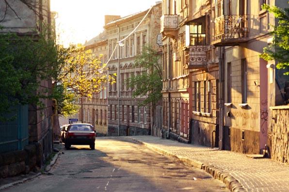 Old street in center of Lviv