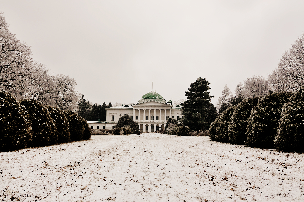 Палац в Сокиринцях з висоти пташиного польоту (відео)