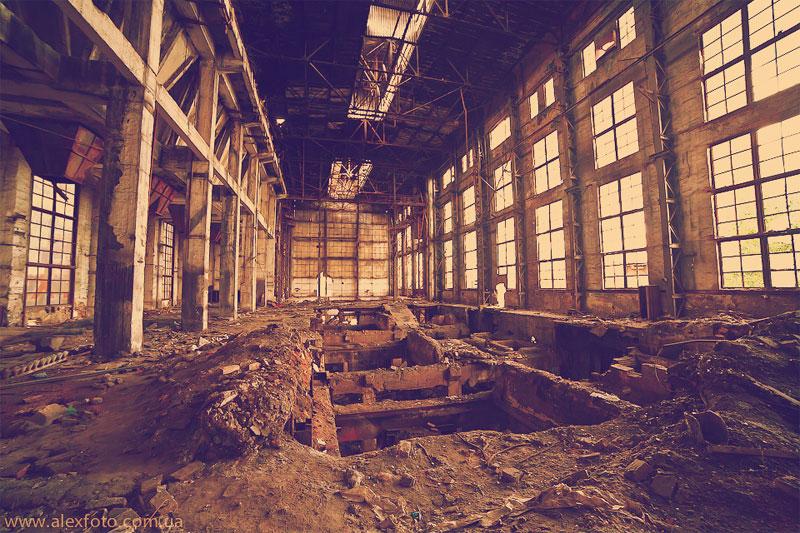 Заброшеный завод в Киеве