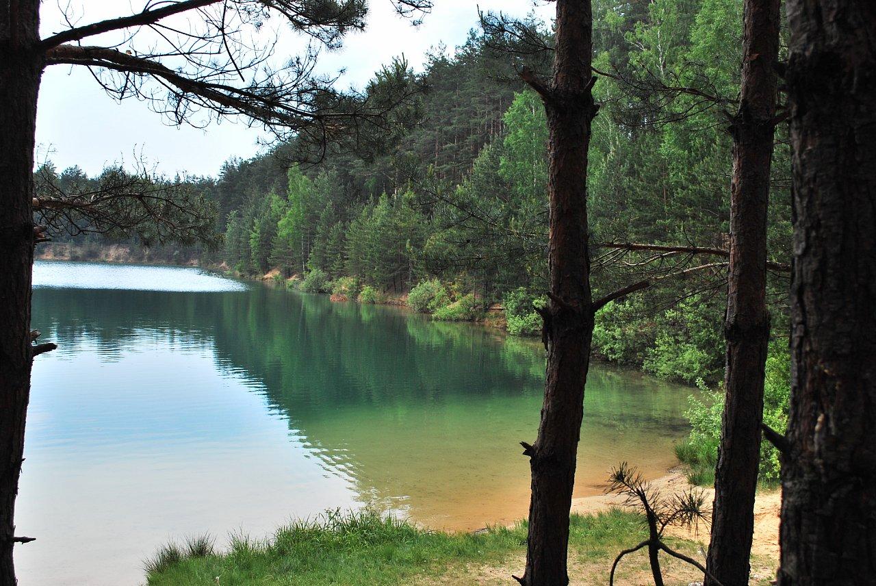 Голубые озёра в Олешне_
