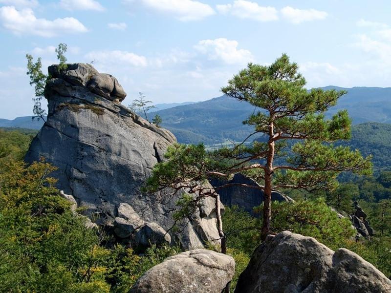 Скалы Довбуша в Карпатах: Бубнище