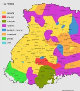 Карта діалектів Західної України