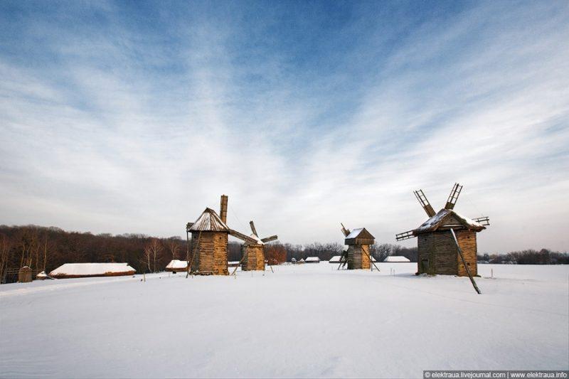 Как выглядит зима в Пирогово (видео)