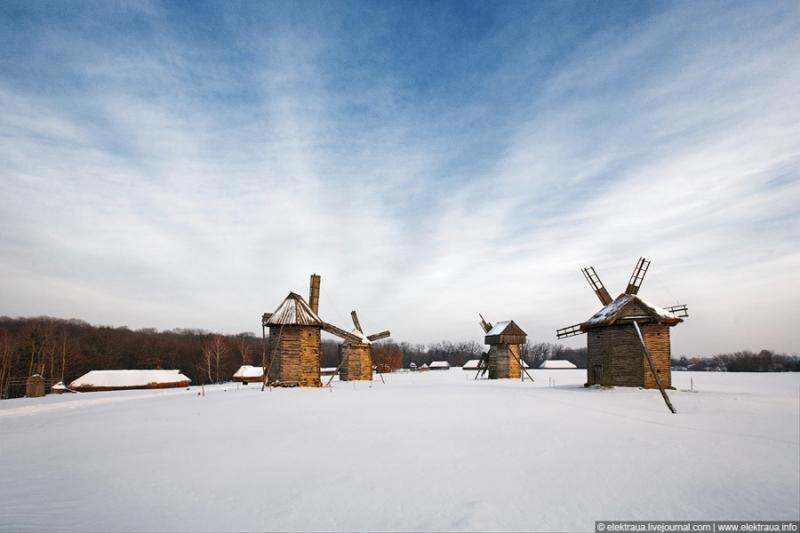 Як виглядає зима в Пирогово (відео)