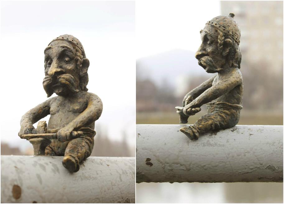 Міні-скульптура «Кельт-коваль» в Мукачево