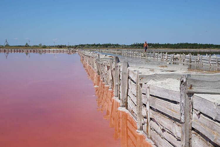 Видобуток солі на Кінбурнській косі