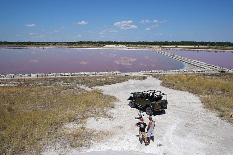 Рожеві озера на Херсонщині